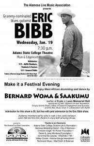 Eric Bibb / Bernard Woma and Saakumu poster