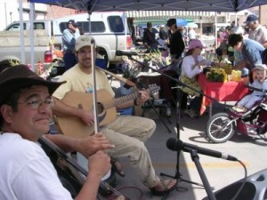 Mark Dudrow and Justin Dean at the Farmers' Market